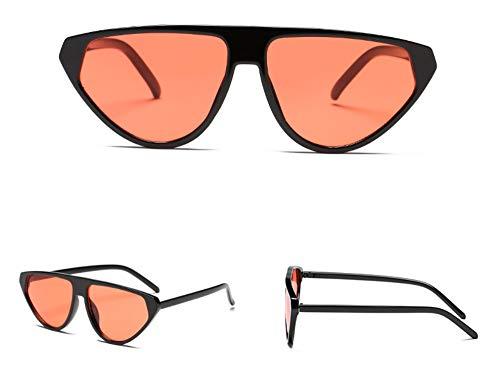 WSKPE Sonnenbrille Piloten Sonnenbrille Flache Steigung Streulichtblenden Brillen Unisex Gläser Uv 400 Schwarzen Rahmen Orange Linse