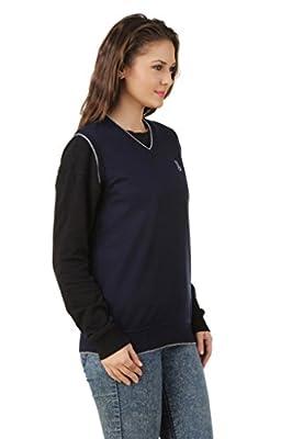 eprilla Women's Woollen Blend Blue Sweater