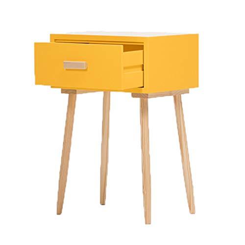 Einfacher moderner Nachttisch Nachttischschrank Mini Nachttisch (Farbe : Gelb)