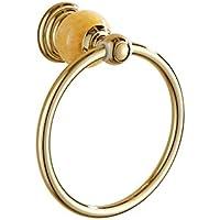 Comparador de precios Bathine Europea anillo colgante toalla anillo de toalla anillo de toalla toallero anillo anillo de jade de oro y cobre toalla de toda la punción gratuito - precios baratos