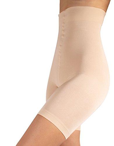 Pantaloncino snellente vita alta, guaina contenitiva e modellante, shaper & push up, nero & naturale, s m l xl (5 - xl, naturale)