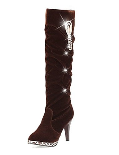 ShangYi Mode damenschuhe stiefel die Herbst/Winter Mode Schuhe Fleece Casual Stilettabsatz andere Schwarz / Braun Braun