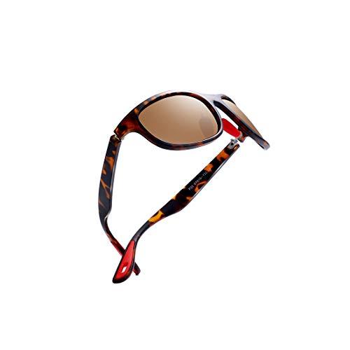 kimorn polarisiert Sonnenbrille für Männer Sportbrillen Ovaler Rahmen Roter GummiBrille K0624 (Schildkröte&Braun)