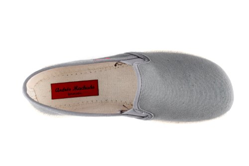 "AM597. Andres Machado. Chaussures ""SLIP ON"" Toile et semelle en Jute. Unisex. Pointure de la 36 à la 45.MADE IN SPAIN GrisFoncé"