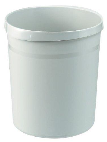 HAN Papierkorb GRIP, 18 Liter, mit 2 Griffmulden, extra stabil, rund, lichtgrau
