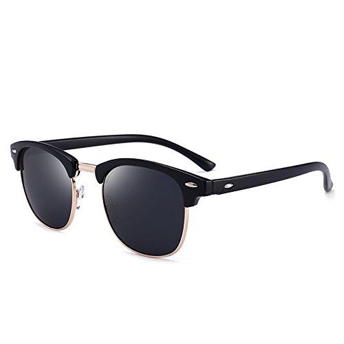 ZUEN Sport Outdoor-Sonnenbrille Driving Mirror Polarizer Men ' S Gläser Fashion Retro Sonnenbrille,Black