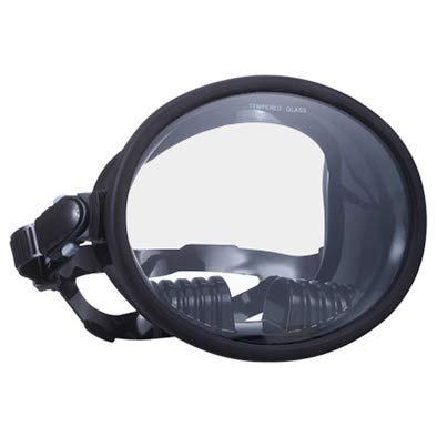 Masque de plongée libre panoramique avec masque de plongée ovale en verre trempé, verre trempé, lunettes de natation unisexes, lunettes de natation à correction optique anti-rayures et anti-buée