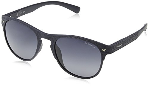 Police S1949 Game 1 Rund Sonnenbrille, SEMI MATT FULL DARK BLUE FRAME/SMOKE GRADIENT LENS