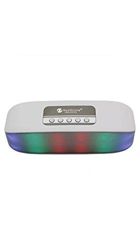 ELECTROPRIME Portable Led Light Wireless Bluetooth Speaker Tf Card Radio (White)