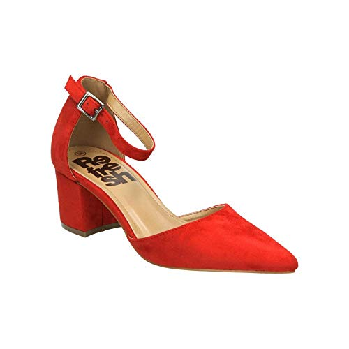 Refresh 69838 Scarpe col Tacco Punta Chiusa Donna, Rosso Rojo, 39 EU