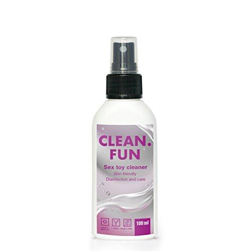 Bio Sex Toy Cleaner I 100 ml Pumpspray für Vibratoren I Desinfektionsmittel Sexspielzeug I Hygienespray für Silikon I Sexspielzeug Reinigungsmittel für Hygienische Anwendung