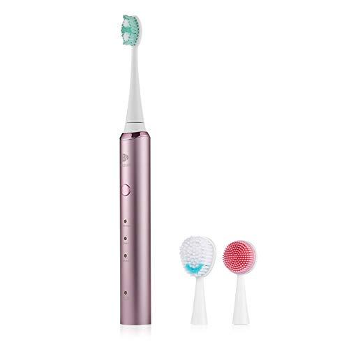 Elektrische Zahnbürste Wiederaufladbar,Induktive Aufladung, Zahnbürste, Gesichtsreinigungsbürste, Massagebürste 3 In 1,Mit 6 Arten Von Ladeschutzmaßnahmen