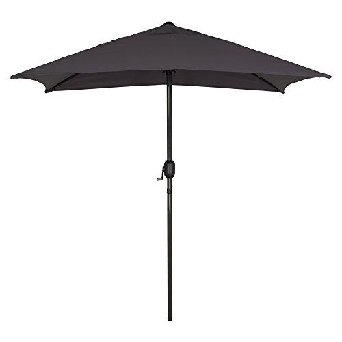 Aktive 53880 - ombrellone rettangolare 120x200 cm - telaio di alluminio 38 mm - grigio scuro