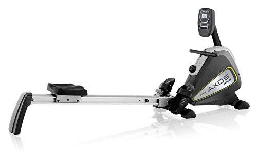 Kettler Rudergerät AXOS Rower – der ideale Rudertrainer mit LCD-Display – vielseitige Rudermaschine mit 8 Stufen – praktischer Hometrainer – silber/anthrazit