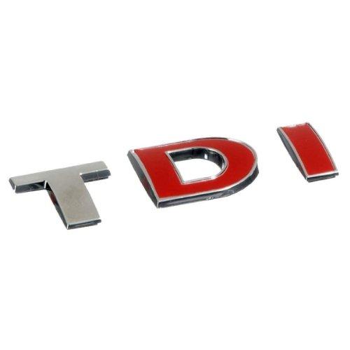Akhan 3d07228–cromato 3d scritta emblema logo TDI