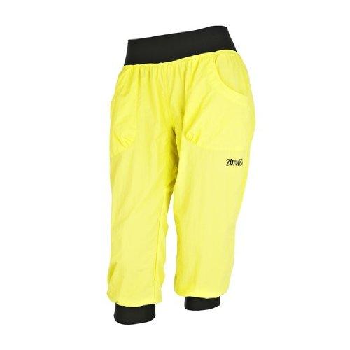 Zumba Fitness - Pantaloni da Donna Capri, Giallo (Giallo Limone), XS