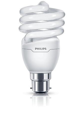 Philips Tornado Compact Fluorescent Spiral B22 Bayonet Cap Light Bulb, 20 W (95 W Equivalent, 10000 Hours) - Warm