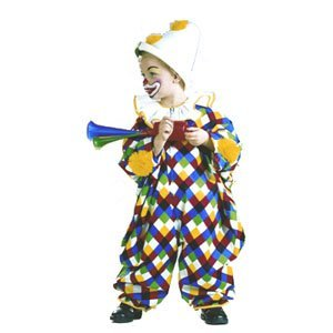 Bunter Clown Overall Gr. 86-92 Kinderkost�m, 118.122.89