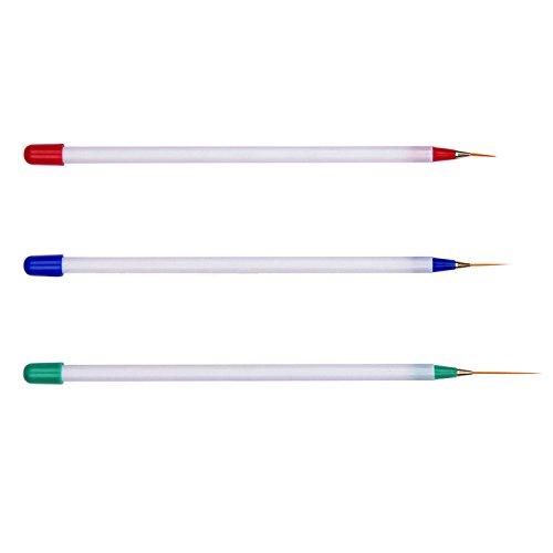 Vococal® 3 Pcs Professional Nail Art Détail Dessin Pinceau Stylo Liner Striper Outil D'Ongle