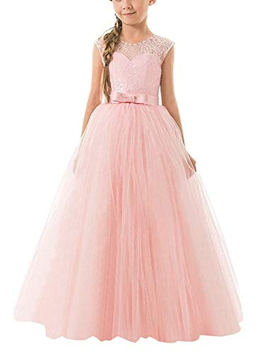 d3aad46bca56e NNJXD Girls Ball Gown Wedding Princess Bridesmaid Party Prom Birthday Dress  for Kids Size(160