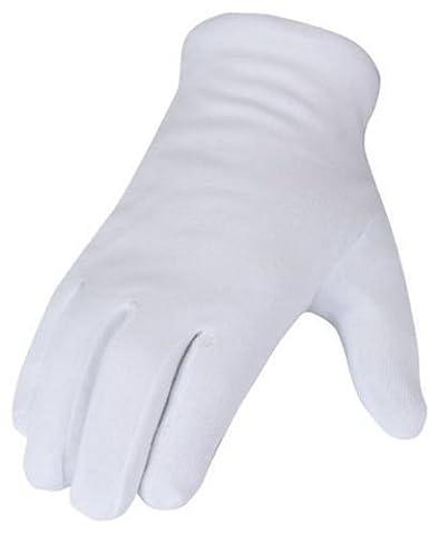 SBS® Gants de coton -12 Pcs blanc Taille 10