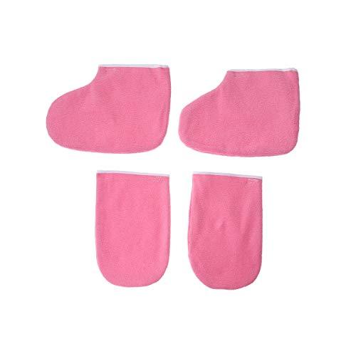 Frcolor 2 pares guantes tela mitones cera parafina