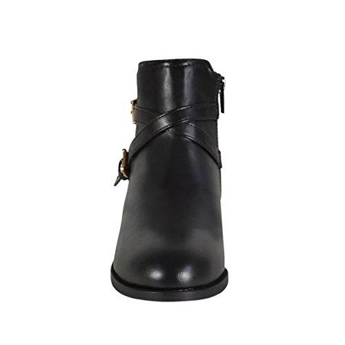Waooh - Bottine Style Cavalière À Sangles Tantia Noir