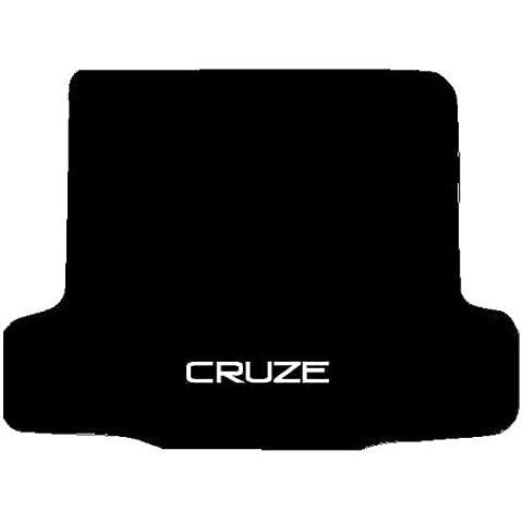 CHEVROLET CRUZE Alfombra Baúl negro bordado a medida para coche Alfombrilla de maletero para moqueta, diseño con cenefa de pared