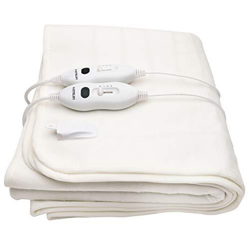 XXL Heizdecke, elektrische Wärmedecke, Wärmeunterbett mit Temperaturregelung, Kuscheldecke mit Überhitzungsschutz, Heizmatte