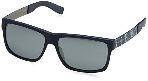 Boss orange 0196/s t4, occhiali da sole uomo, nero (blue antcblazu/black fl), 59