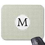 Personalisierte Monogramm Salbei Hahnentritt Maus Pad (Salbei Pad)