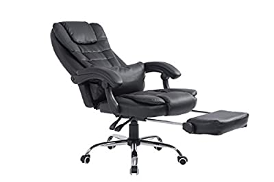 Cherry Tree Luxury Extra Padded High Back Reclining Faux Leather Relaxing Swivel Executive Chair With Footrest - cheap UK light shop.