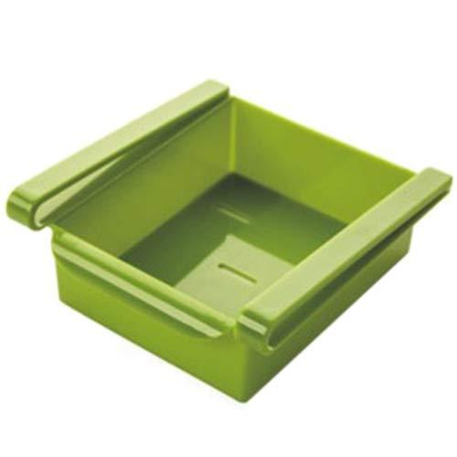 Shuzhen,PP-Kühlschrank-Lagerregal-Gefrierfach-Regalhalter 3PCS(color:GELBGRÜN)
