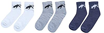 Zacharias Unisex Poly Cotton Socks (Multi-Coloured, Pair of 3)