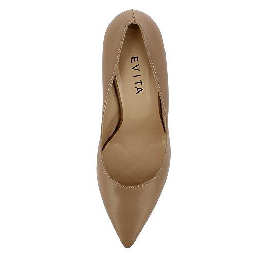 Evita Shoes Aria, Scarpe col tacco donna Beige
