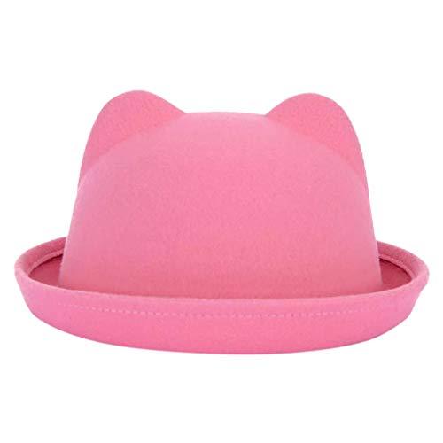 Yvelands Hut Katzenohren Mütze Crushable Wollfilz Outback Hut Cute Cat Design Cap