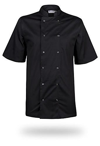 mcintyre-brand-poly-cotton-chef-full-sleeve-coat-jacket-black-medium