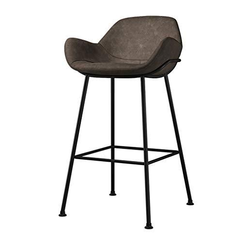 Barhocker Frühstück Küchentheke Barstühle Fußstütze mit breitem Leder gepolstertem Sitz Esszimmerstuhl for die Küche |Pub |Café Hocker max.Laden Sie 200 kg