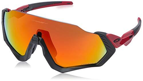 Oakley Herren Sonnenbrille Flight Jacket Schwarz (Negro)