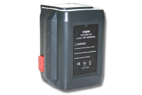 vhbw Li-Ion Akku 4000mAh (18V) für Werkzeuge Gardena Turbotrimmer AccuCut