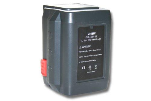 vhbw Li-Ion Akku 4000mAh (18V) für Werkzeuge Gardena Rasentrimmer AccuCut 400 Li (8840-20) wie 8835-U, 8835-20, 8839, 8839-20.