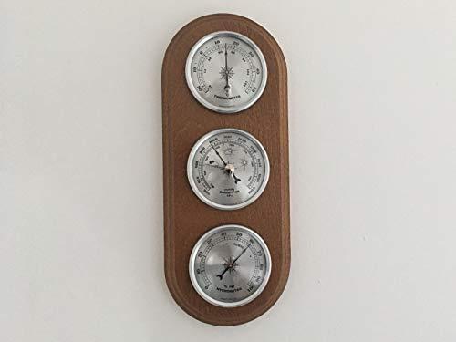 Traditionelle Wetterstation Barometer Thermometer Hygrometer Goldfarbene Zifferblätter Qualitätsinstrument