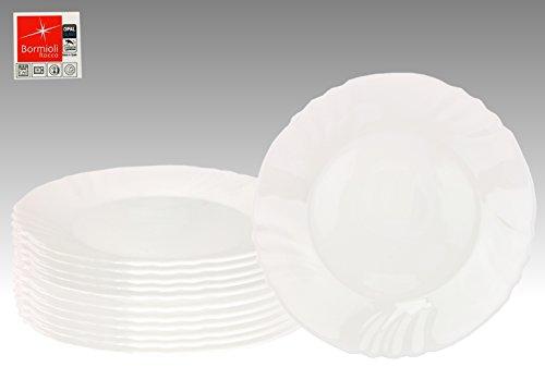 cco EBRO Essteller, Speisesteller, Menuteller, großer Teller, 25 cm, Opal-Hartglas (Große Teller)