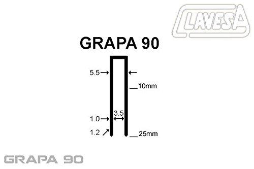 Agrafeuse pneumatique clavesa bs-9025, agrafes type 90jusqu'à 25mm de long