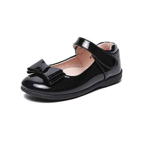 Girls Black School Shoes Size Infant 8 9 10 11 12 13 & Junior 1 2 Hook & Loop Closure