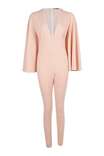 ... Nude Damen Ella Cape Stil dünne Bein-Overall Nackt