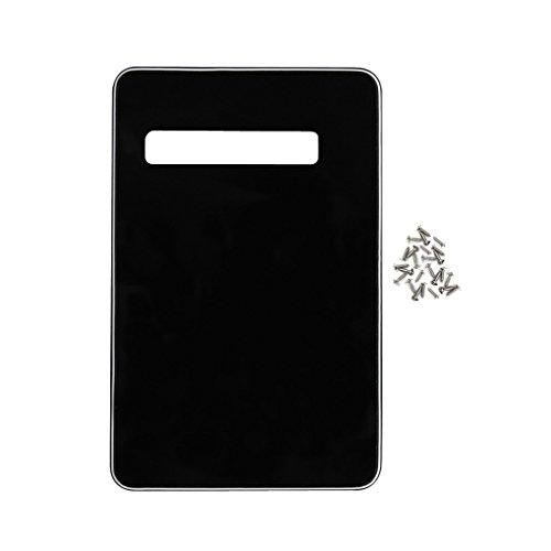IKN DIY Back Plate Tremolo Cavity Cover Backplate für American Modern Strat Style Gitarre, Schwarz/weiß/schwarz Strat Backplate