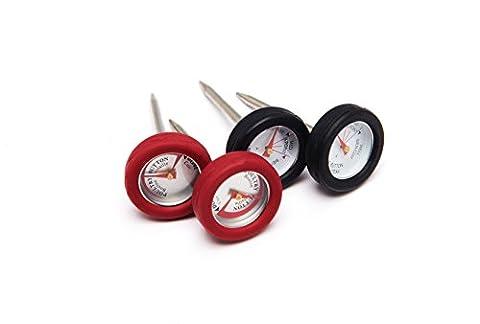 Grillpro 4pièces min thermomètres à viande avec cadre 4 pièces, mini, pour la viande noir