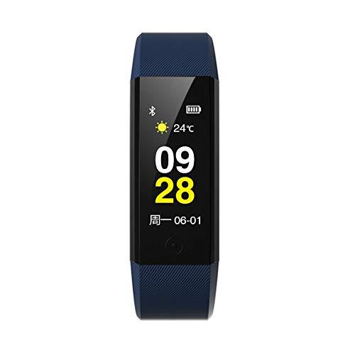 Gesundheitssport Wasserdicht Intelligentes Armband Pulsuhr Zur Überwachung des Blutdrucks Mit Multifunktions-Farbbildschirm Intelligente Uhr Blau A940 Bluetooth