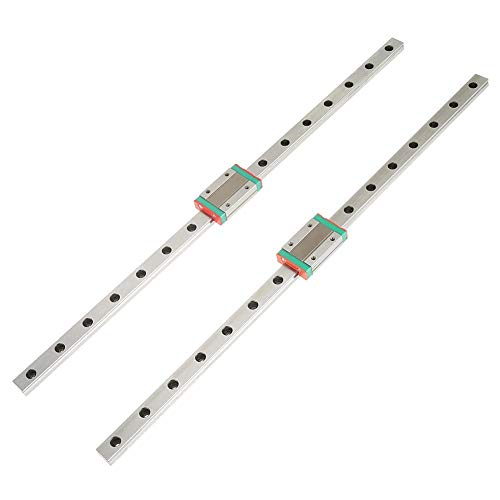 2 stücke Miniatur Linearführungsschienen LML12H mit MGN12H Slide Blocks für DIY 3D Drucker und CNC Maschine (400mm) -